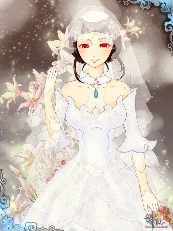 婚纱高清唯美 唯美手绘婚纱设计图 水中婚纱唯美大图