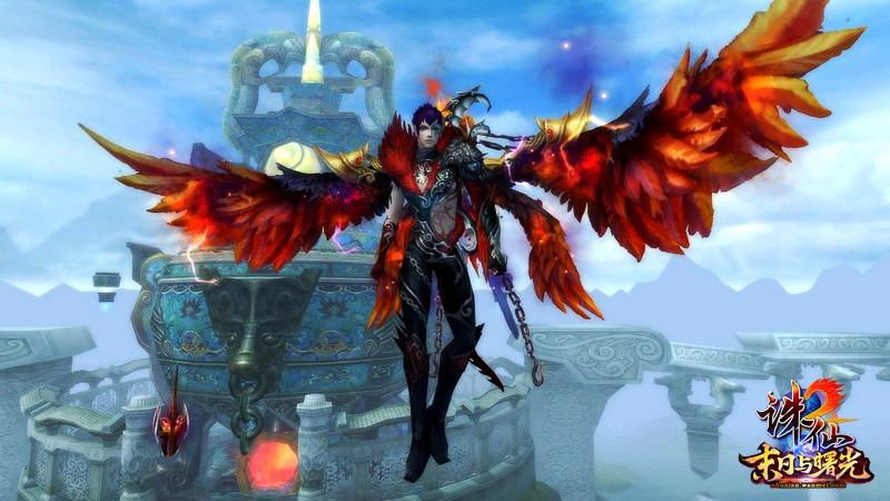 """华丽翅膀,助你演绎绝世修真传奇,为空战PK插上自由羽翼!《诛仙2》中充满神秘色彩的羽翼飞剑,一向深受广大玩家喜爱。或霸气、或耀眼、或唯美,相信总有一款羽翼让你爱不释手,一起来欣赏吧!  《诛仙2》全新""""冥引""""飞剑霸气外露 【""""冥引"""" 闪耀王者霸气】 从幽冥之界幻化而来,暗夜中闪耀血色风采,王者霸气无处不在。全新羽翼""""冥引""""引爆出行新时尚,有了它,山川平原任你穿梭,有了它,空战PK更加充满信心!  """"冥引""""羽翼镶"""