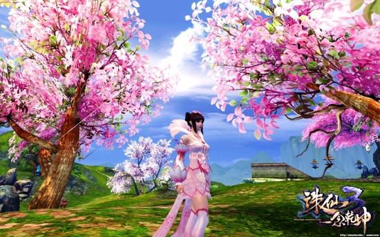 图片: 图3.玩家截图《诛仙3》桃花装.jpg
